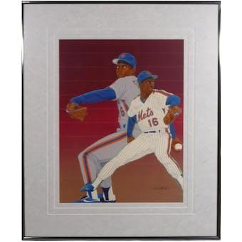 Doc Gooden New York Mets Upper Deck 29 X 35 Framed Original Art