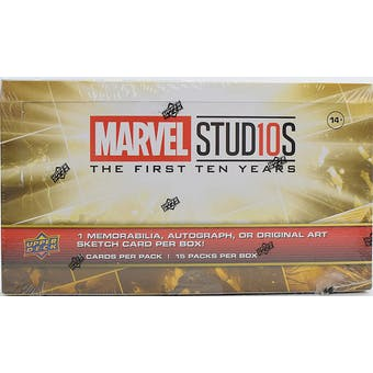 Marvel Cinematic Universe 10th Anniversary Trading Cards Box (Upper Deck 2019)