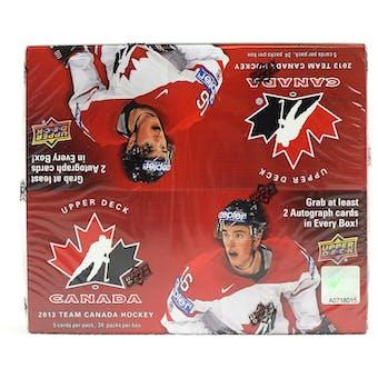 2013 Upper Deck Team Canada Hockey Hobby Box