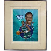 Rolando Blackman Dallas Mavericks Upper Deck 26 x 30 Framed Original Art