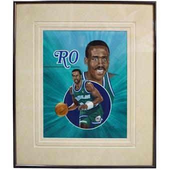 Rolando Blackman Dallas Mavericks Upper Deck 26 x 30 Framed Original Art