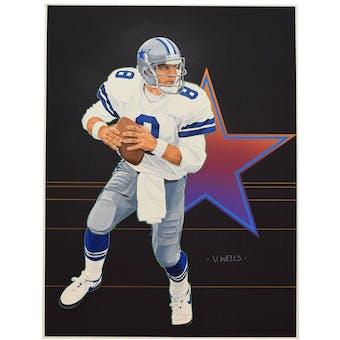 Troy Aikman Dallas Cowboys Upper Deck 26 x 20 Unframed Original Art