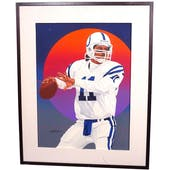 Jeff George Indianapolis Colts Upper Deck 24 x 30 Framed Original Art