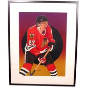Jeremy Roenick Chicago Blackhawks Upper Deck 24 X 30 Framed Original Art