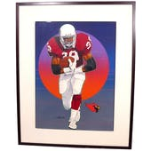 Johnny Johnson St. Louis Cardinals Upper Deck 18 x 24 Framed Original Painting