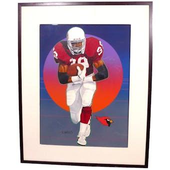Johnny Johnson St. Louis Cardinals Upper Deck 18 x 24 Framed Original Painting