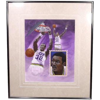 Karl Malone Utah Jazz Upper Deck 26 x 30Framed Original Art