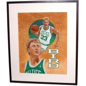 Larry Bird Boston Celtics Upper Deck 22 x 26 Framed Original Art