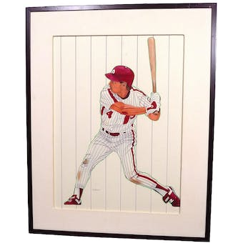 Lenny Dykstra Philadelphia Phillies Upper Deck 18 x 24 Framed Original Painting