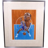 Lionel Simmons Sacramento Kings Upper Deck 26 X 30 Framed Original Painting