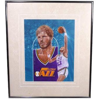 Mark Eaton Utah Jazz Upper Deck 26 x 30 Framed Original Art