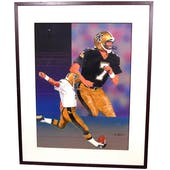 Morten Andersen New Orleans Saints Upper Deck 18 x 24 Framed Original Painting