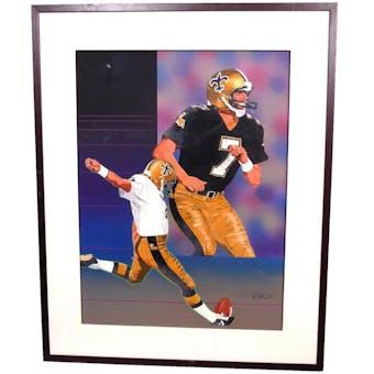 Morten Andersen New Orleans Saints Upper Deck 18 x 24 Framed Original Painting