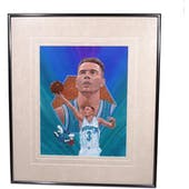 Rex Chapman Washington Bullets Upper Deck 26 x 30 Framed Original Art