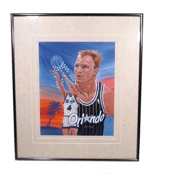 Scott Skiles Orlando Magic Upper Deck 26 x 30 Framed Original Art