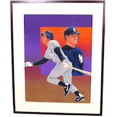 Steve Sax New York Yankees Upper Deck 24 x 30 Framed Original Art