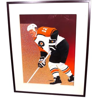 Tim Kerr Philadelphia Flyers Upper Deck 24 x 30 Framed Original Painting