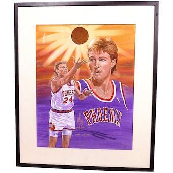 Tom Chambers Phoenix Suns Upper Deck 22 x 26 Framed Original Art