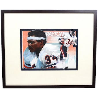 Walter Payton Chicago Bears Upper Deck 16 X 19 Framed Original Art