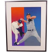 Roger Clemens Boston Red Sox Upper Deck 24 x 30 Framed Original Art