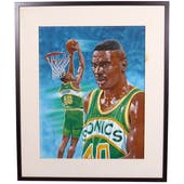 Sean Kemp Seattle Supersonics Upper Deck 22 x 26 Framed Original Art