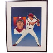 Von Hayes Philadelphia Phillies Upper Deck 24 x 30 Framed Original Art