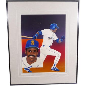 Alvin Davis Seattle Mariners Upper Deck 29 x 35 Framed Original Painting