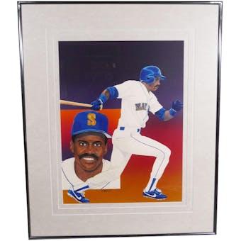 Alvin Davis Seattle Mariners Upper Deck 29 x 35 Framed Original Painting