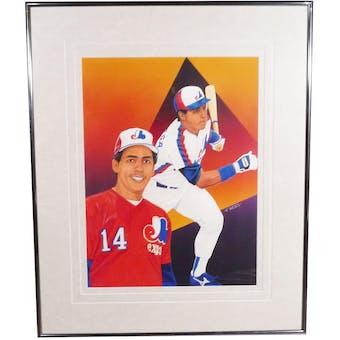 Andres Gallaraga Montreal Expos Upper Deck 29 x 35 Framed Original Art