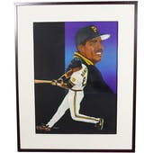 Barry Bonds Pittsburgh Pirates Upper Deck 24 X 30 Framed Original Art