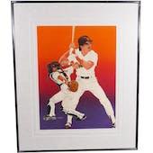 Benito Santiago San Diego Padres Upper Deck 29 x 35 Framed Original Art