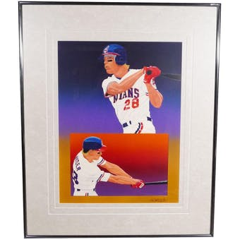 Corey Snyder Cleveland Indians Upper Deck 29 x 35 Framed Original Art