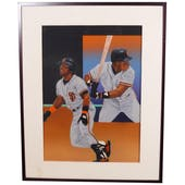 Kevin Mitchell San Francisco Giants Upper Deck 24 X 30 Framed Original Art