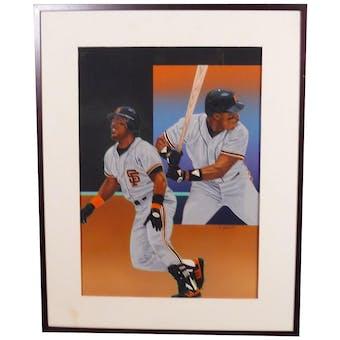 Kevin Mitchell San Francisco Giants Upper Deck 24 X 30 Framed Original Art