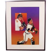 Mickey Tettleton Baltimore Orioles Upper Deck 24 x 30 Framed Original Art