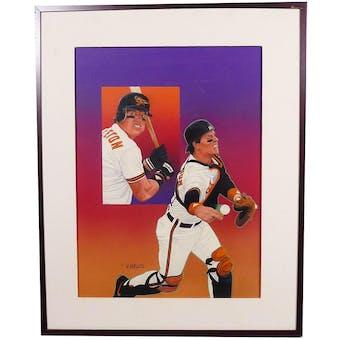 Mickey Tettleton Baltimore Orioles Upper Deck 24 x 30 Framed Original Art