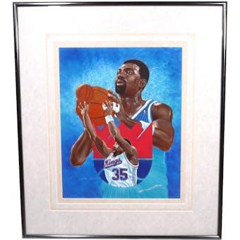 Antoine Carr San Antonio Kings Upper Deck 26 x 30 Framed Original Art