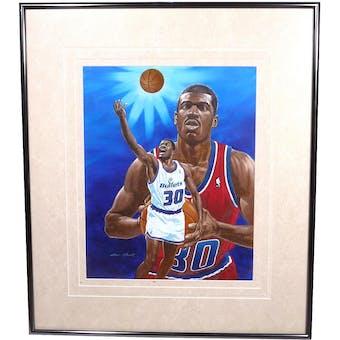 Bernard King Washington Bullets Upper Deck 26 x 30 Framed Original Painting