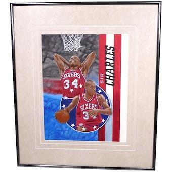 Charles Barkley Philadelphia 76ers Upper Deck 18 x 24 Framed Original Painting