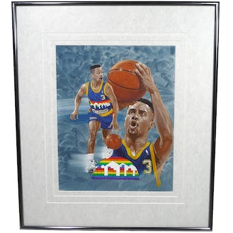 Chris Jackson / Mahmoud Abdul-Rauf Denver Nuggets Upper Deck 26 x 30 Framed Original Art