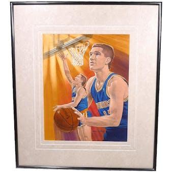 Chris Mullin Golden State Warriors Upper Deck 26 x 30 Framed Original Art