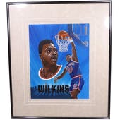 Gerald Wilkins New York Knicks Upper Deck 26 x 30 Framed Original Art