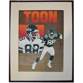 Al Toon New York Jets Upper Deck 24 x 30 Framed Original Art
