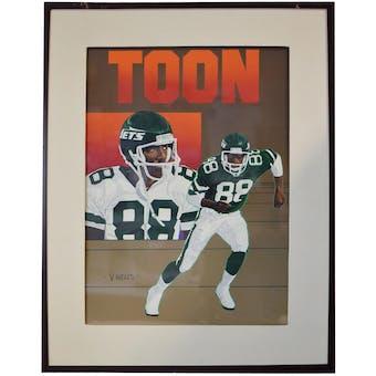 Al Toon New York Jets Upper Deck 24 x 30 Framed Original Art