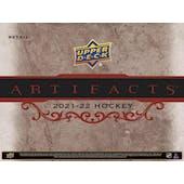 2021/22 Upper Deck Artifacts Hockey 7-Pack Blaster 20-Box Case (Presell)