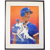 Darryl Strawberry New York Mets Upper Deck 24 x 30 Framed Original Art