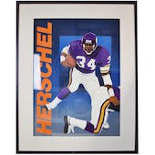Herschel Walker Dallas Cowboys Upper Deck 24 x 30 Framed Original Art