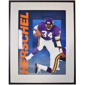 Herschel Walker Dallas Cowboys Upper Deck 24 x 30 Framed Original Art