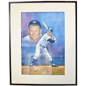 Mickey Mantle New York Yankess Upper Deck 24 x 30 Framed Original Art