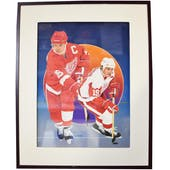 Steve Yzerman Detroit Red Wings Upper Deck 24 x 30 Framed Original Art